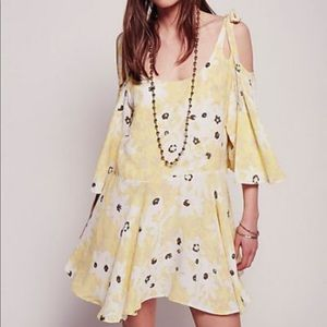 Free People Lucina dress in yellow
